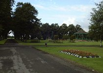 West Park bandstand and gardens