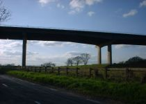 M62 Ouse Bridge from Westfield Banks