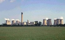 The small village of Drax and its power station