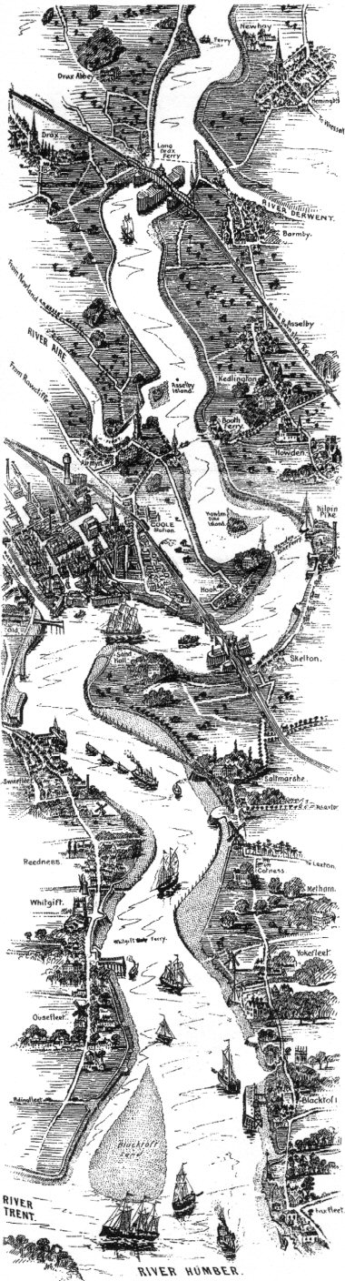 Illustration of the villages on the Ouse