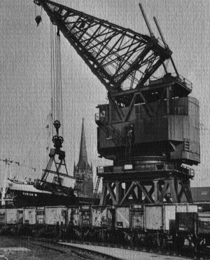 50-ton electric travelling crane in Railway Dock