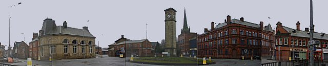 Panoramic view of the Clock Tower Roundabout