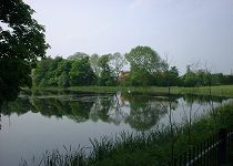 The duck pond near Carlton Towers