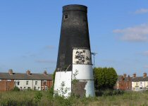 The old windmill on the Timms' site