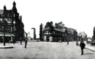 The roundabout before the clock tower was built - click to enlarge